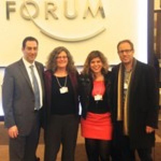 Marion Buckwalter and Tony Wyss Corayat Davos Economic forum