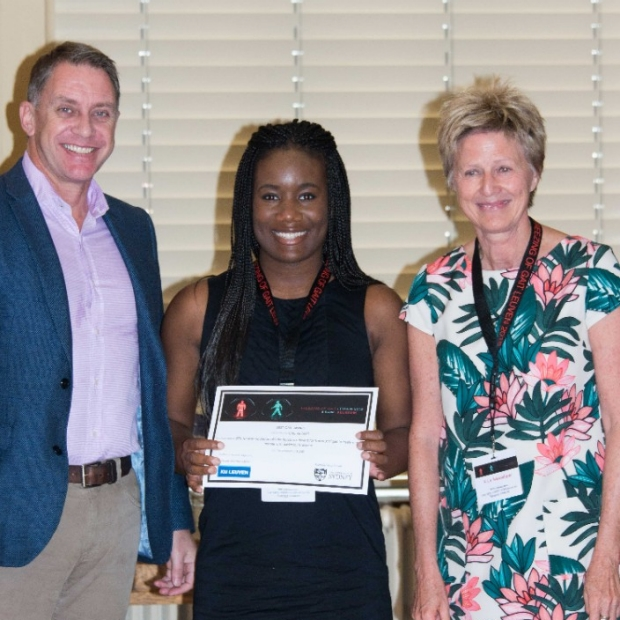 Chioma Anidi accepting award