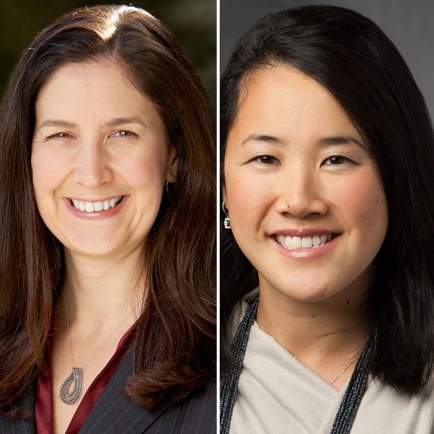 Kathleen Poston and Sharon Sha