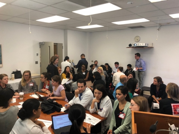 Teams of Stanford Neurology residents and fellows identify systems issues and sketch fishbone diagrams