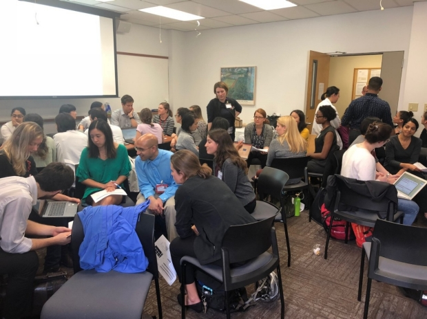 Teams of Stanford Neurology residents and fellows hone their projects' SMART goals