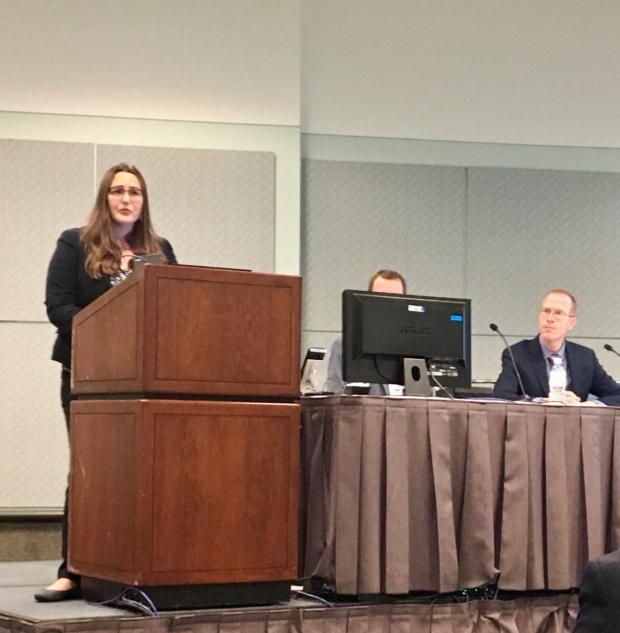 Dr. Rebecca Miller-Kuhlmann presents on the impact of the Stanford Neurology Residency Quality Improvement Curriculum at the American Academy Neurology annual meeting.