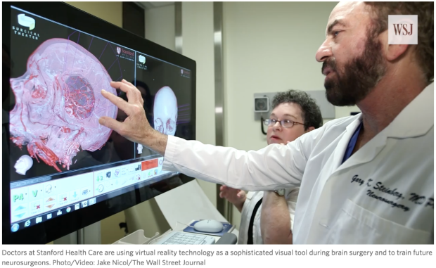 Stanford neurosurgeon shows patient her own anatomy using virtual reality