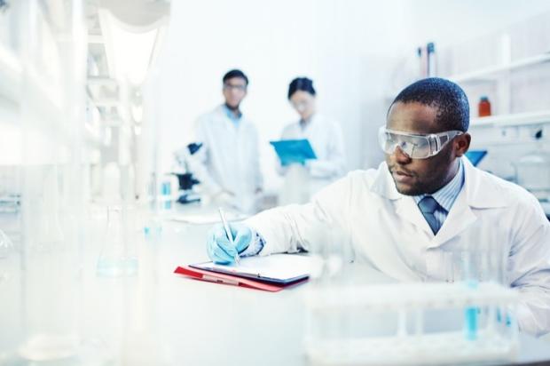 Man in laboratory