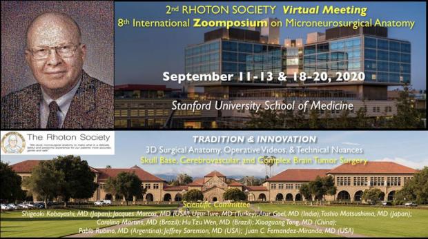 Rhoton Society Meeting Stanford 2020