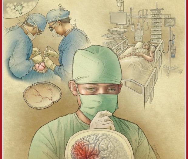 Neurosurgery September 2020 Cover Art by Ken Probst