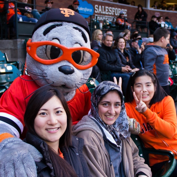 Palmer lab at a SF Giants game