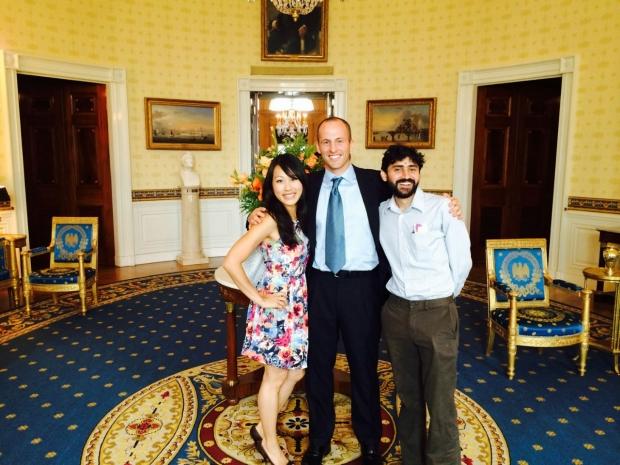 Manu Prakash at the White House