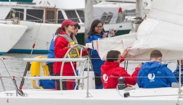 Surgery residents sailing