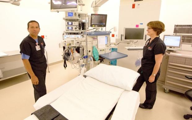 Nurses in a treatment room