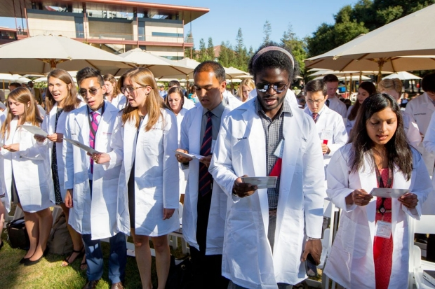 Stanford medical students recite affirmation