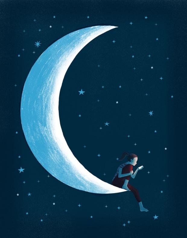 Teen sleep illustration