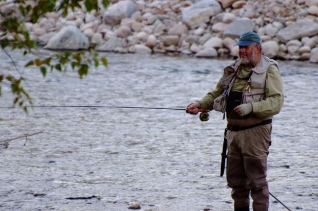 Irving Weissman fly fishing