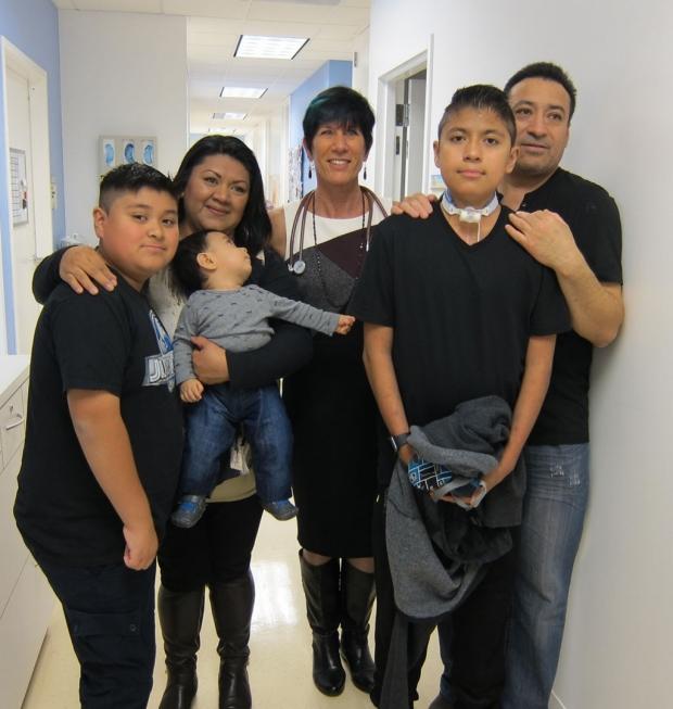 Oswaldo Jimenez and his family