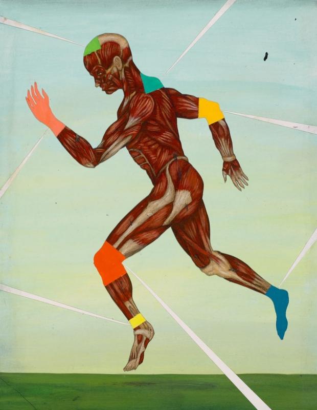 Illustration of a running man