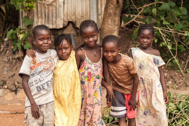 Five young African children
