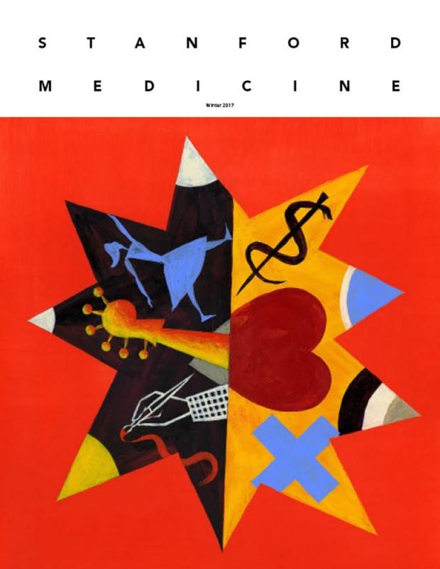 Magazine cover depicting arts and medicine