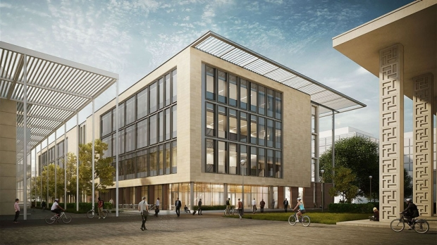 Rendering of the Biomedical Innovation Building.