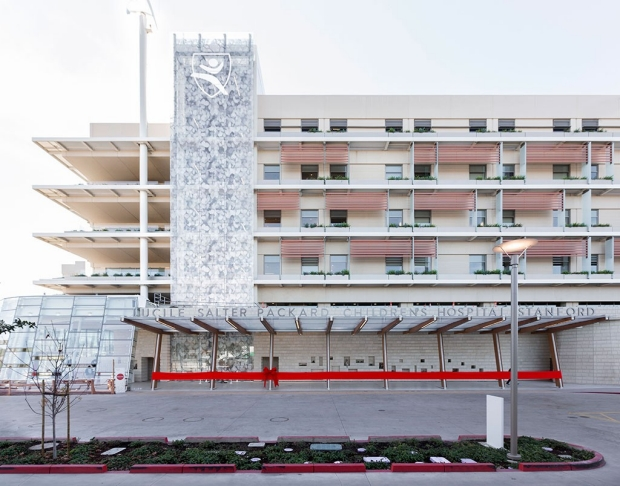 Exterior of the new Packard Children's Hospital