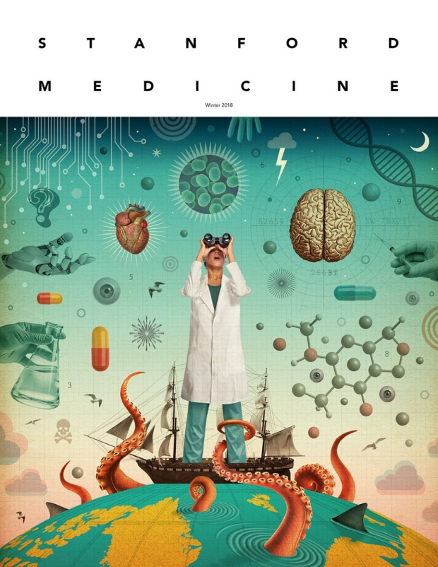 Cover of the winter 2018 issue of Stanford Medicine magazine