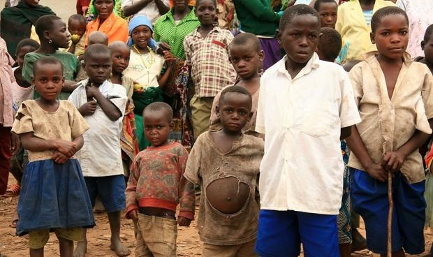 Refugee children from Democratic Republic of Congo