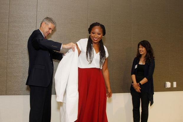 Kenisha Puckett gets her lab coat
