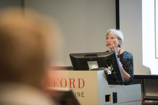 Laura Bachrach teaching a class