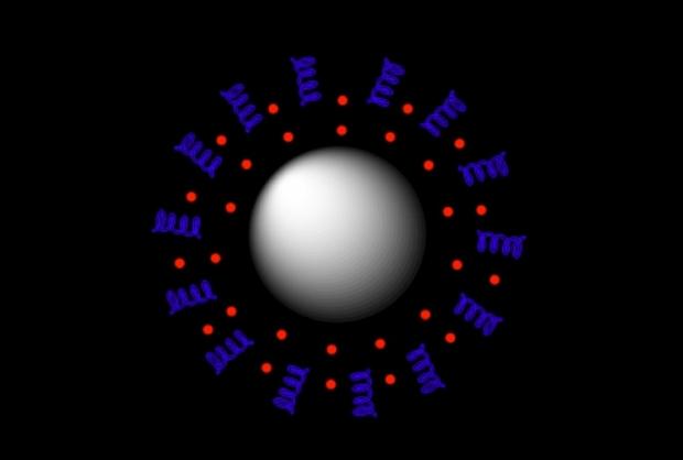 Illustration of a drug molecule