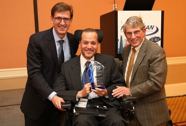Eric Sibley receiving an award