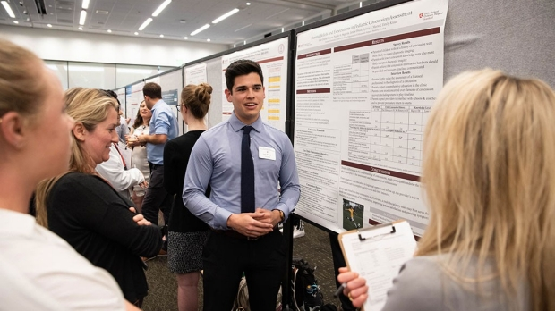 Students display diverse research