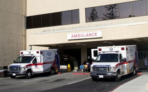 Ambulance bay at Stanford Hospital