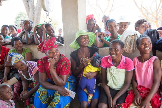 Women at a contraception clinic in Zimbabwe
