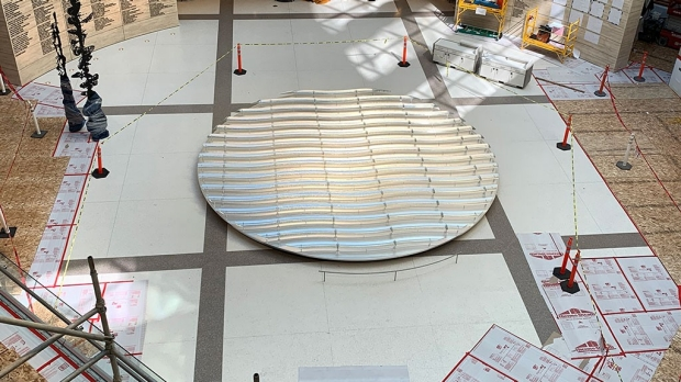Liquid Light installed in new Stanford Hospital atrium