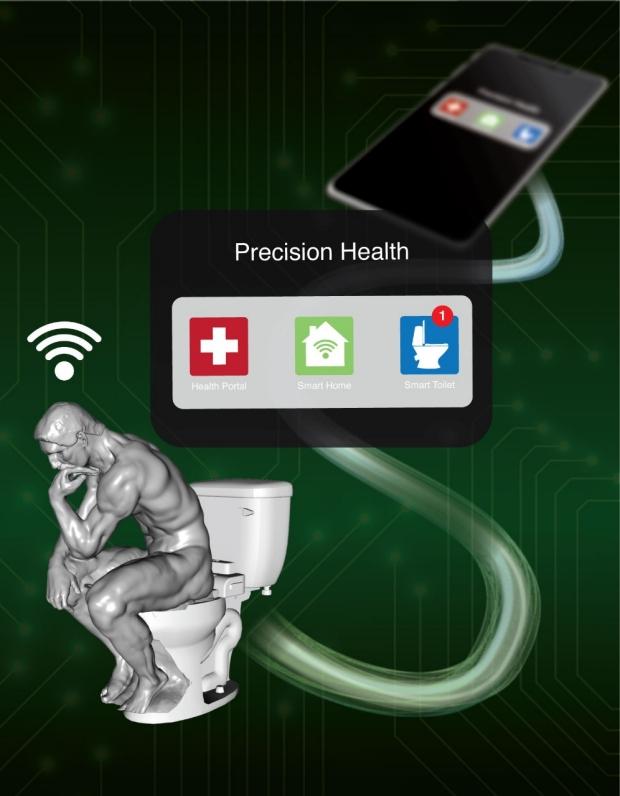 smart toilet graphic