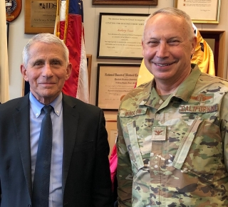 Anthony Fauci and Dean Winslow