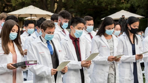 First- and second-year medical students recognized at white coat ceremonies