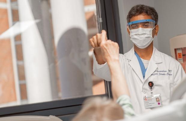 Prashanth Krishnamohan, MD, at Stanford Health Care –ValleyCare Stroke Center.