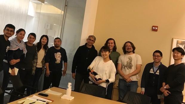 Champagne Celebration for Sayaka's published paper
