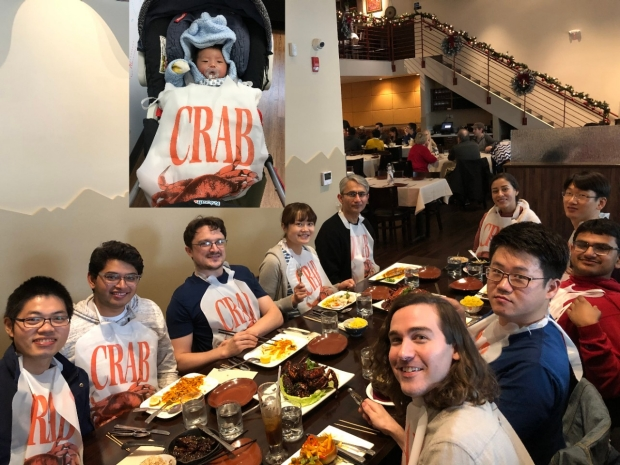 The Shah Lab team - baby shower party for Sayaka Inoue and baby Kent.