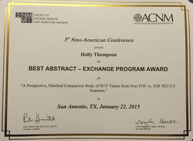Award - Best Abstract