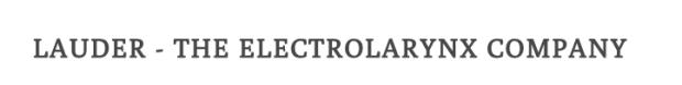 Lauder - The Electrolarynx Company logo