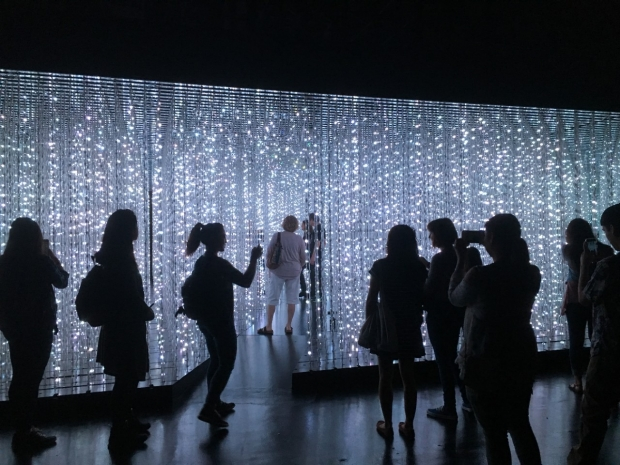 Crystal Universe exhibit at TeamLab Pace Gallery