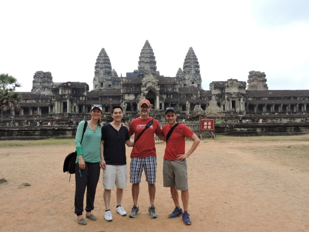 Group photo in front of Angkor Wat, Siem Reap, Cambodia