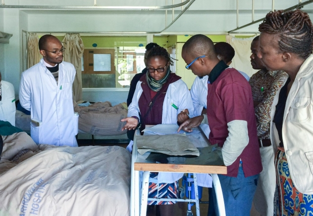 University of Zimbabwe doctors and residents during rounds