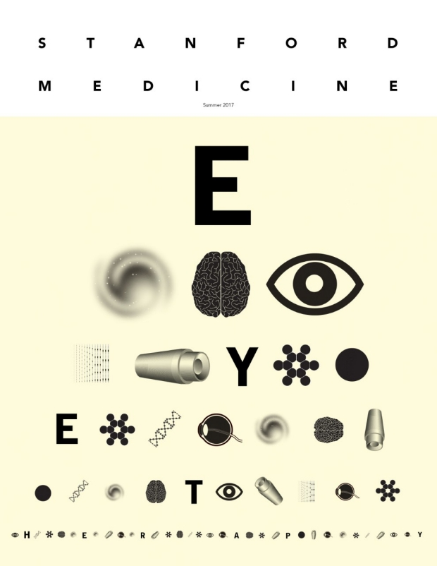 Eye chart graphic Illustration by John Hersey