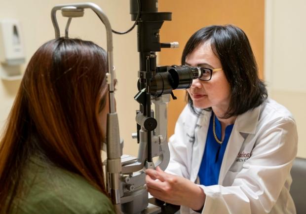 Dr. Joyce Liao sees patient