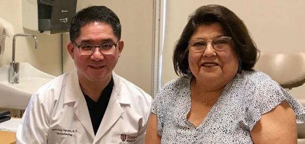 Dr. Nguyen and Yolanda