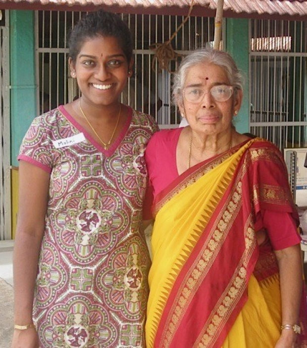 Malini and grandmother