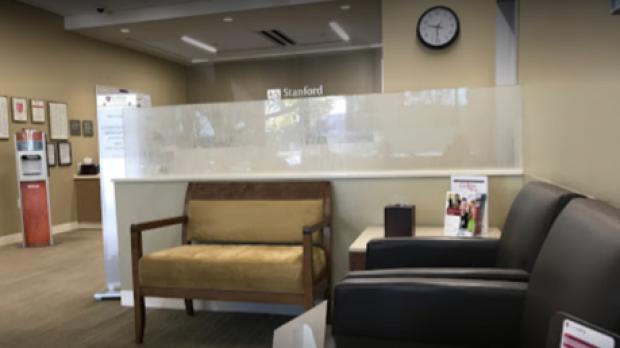 inside of Stanford Primary Care in Santa Clara building