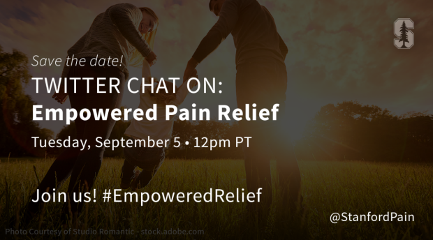 Empowered Pain Relief Twitter Chat Graphic
